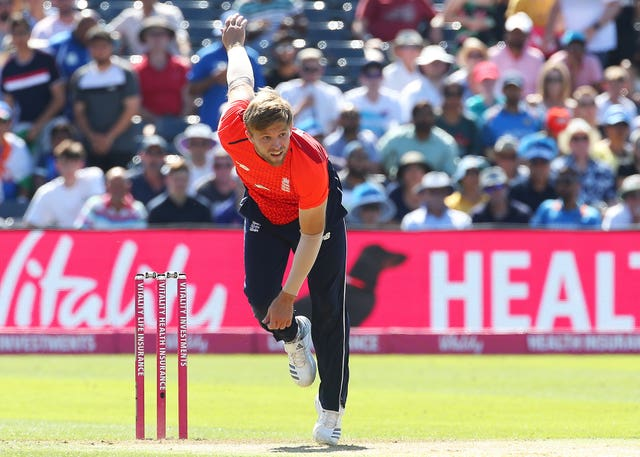 David Willey starred with the ball in St Kitts