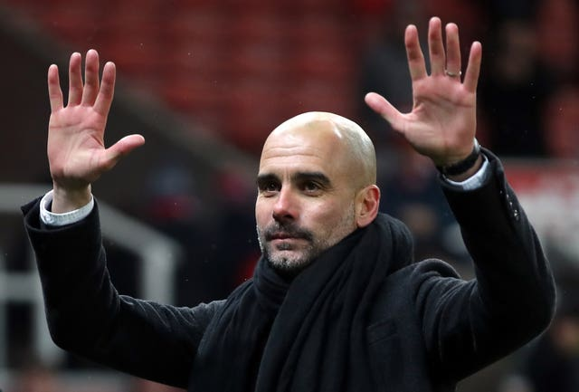 Manchester City manager Pep Guardiola says his side's focus is on their next game (Nick Potts/PA)
