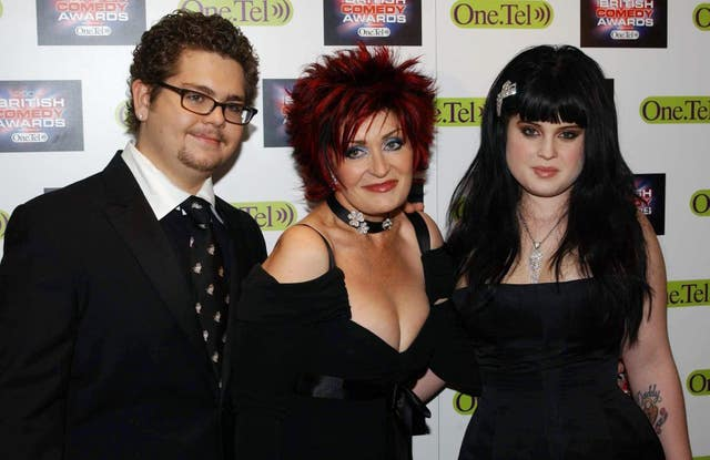 Sharon Osbourne (centre) with her children Jack and Kelly, who also featured in the show