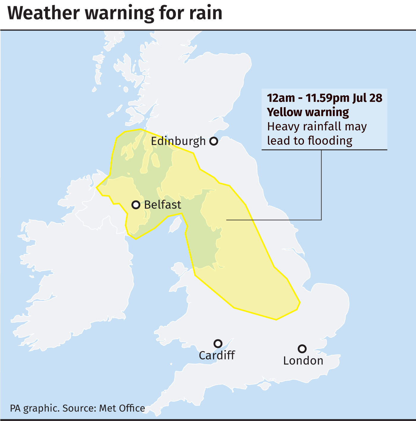 Potential thunderstorms and flooding heading to the north of Scotland
