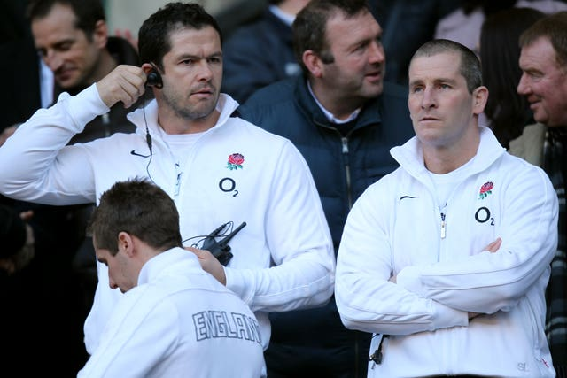 Andy Farrell, left, worked under Stuart Lancaster when he coached England