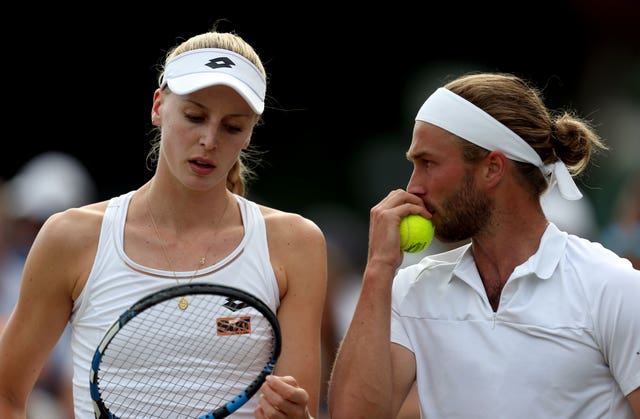 Naomi and Liam Broady played in doubles action together at Wimbledon in 2017