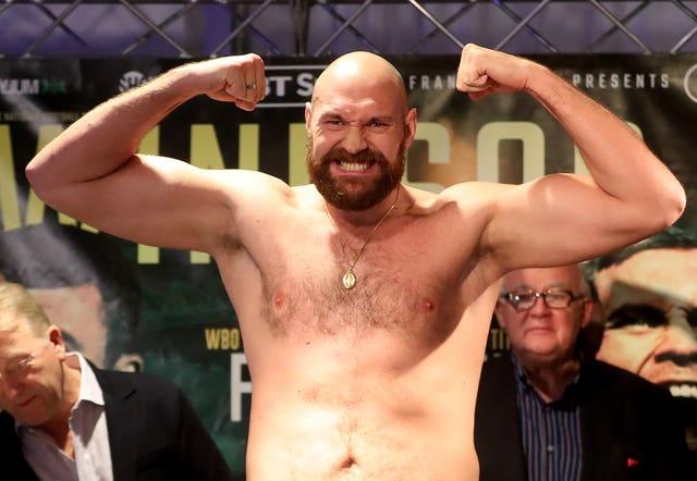 Carl Frampton and Tyson Fury Weigh-In – Europa Hotel