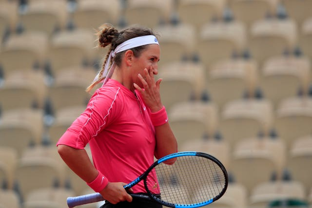 Victoria Azarenka was disappointed with her performance