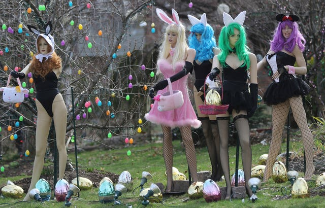 A racy Easter display in New Jersey