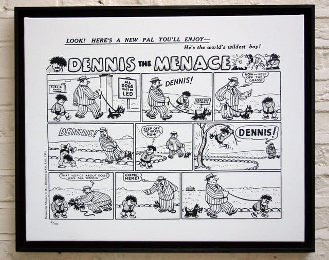 The first-ever Dennis the Menace strip from March 17, 1951 (D.C. Thompson & Co. Ltd/Beano Studios/PA)