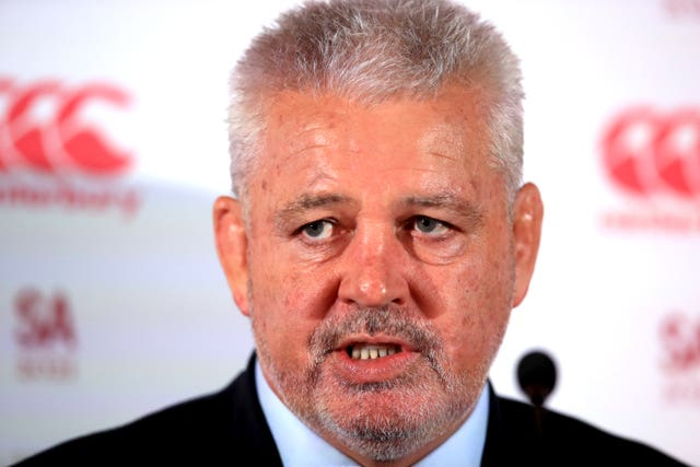 Warren Gatland will lead the British and Irish Lions against South Africa