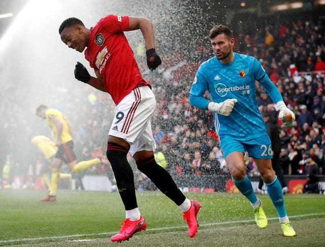 Anthony Martial (left) and Ben Foster