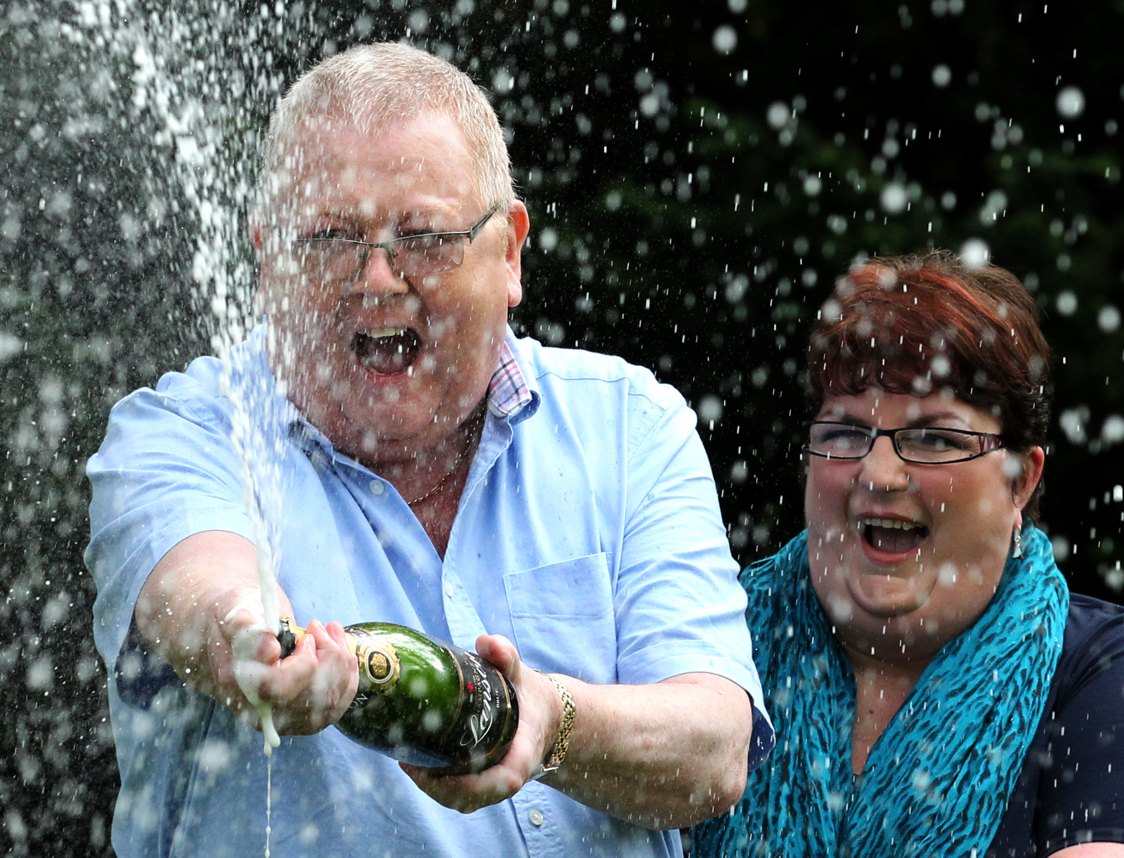 Couple who scooped £105 MILLION Euromillions jackpot are revealed