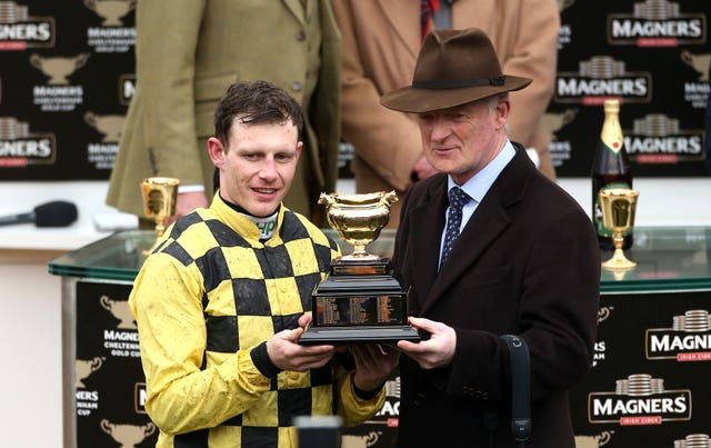 Willie Mullins, with jockey Paul Townend, has waited a long time to get his hands on the Gold Cup