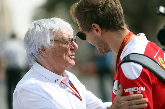 Bernie Ecclestone is close friends with Sebastian Vettel
