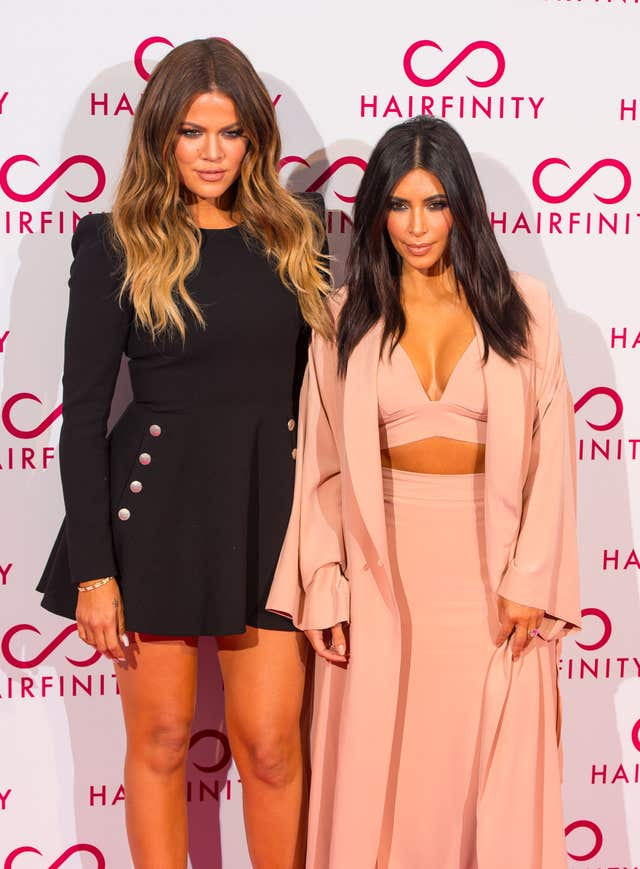 Kim Kardashian-West has spoken about her sister Khloe's relationship with basketballer Tristan Thompson (Dominic Lipinski/PA)