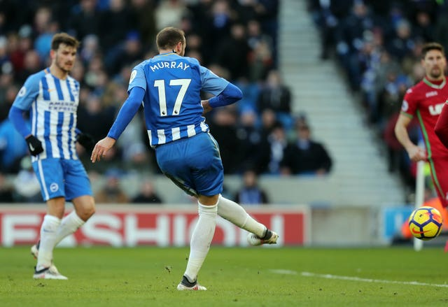 Glenn Murray grabs his second goal of the game for Brighton