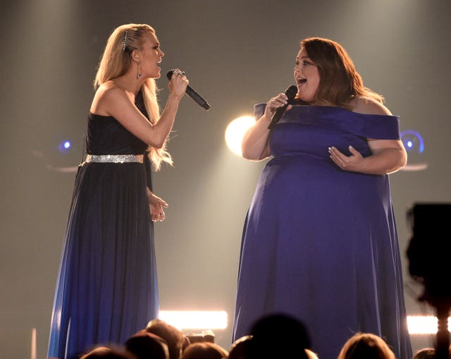 Carrie Underwood and Chrissy Metz