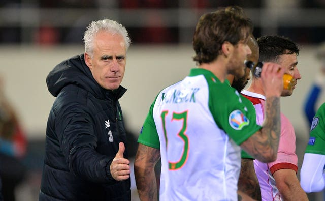 Mick McCarthy was back in the dugout as Republic of Ireland manager