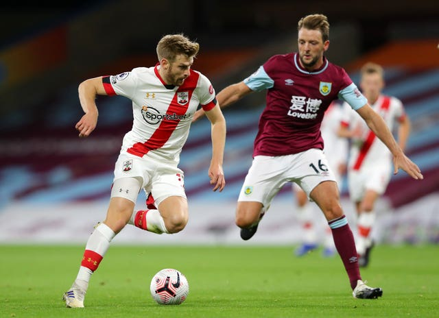 Dale Stephens, right, made his Burnley debut