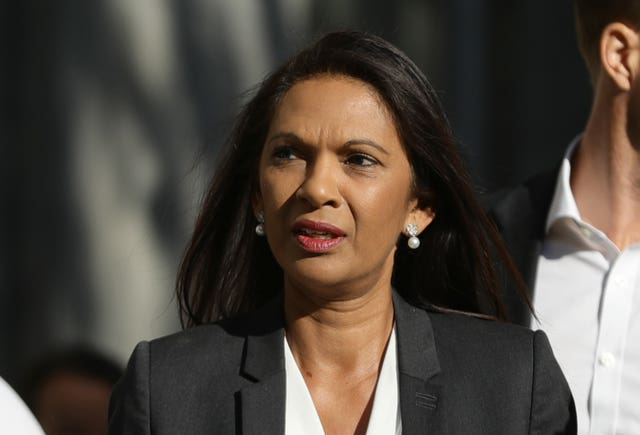 Sir John is supporting an appeal brought by campaigner and businesswoman Gina Miller, pictured