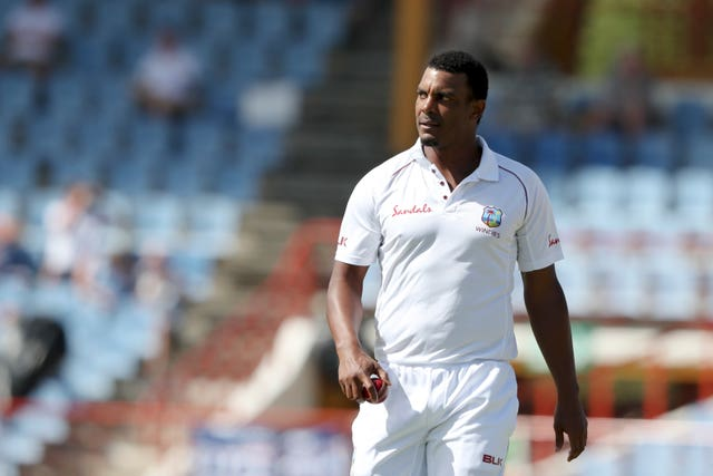 West Indies' Shannon Gabriel was serenaded by England supporters when he walked out to bat