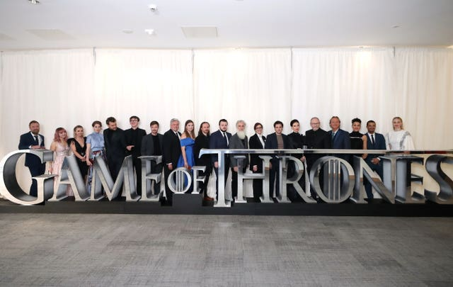 Game Of Thrones cast  on the red carpet