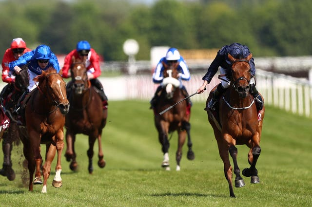 Rhododendron was a narrow winner of the Lockinge at Newbury