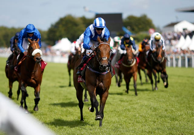 Battaash and Jim Crowley winning at Goodwood last year
