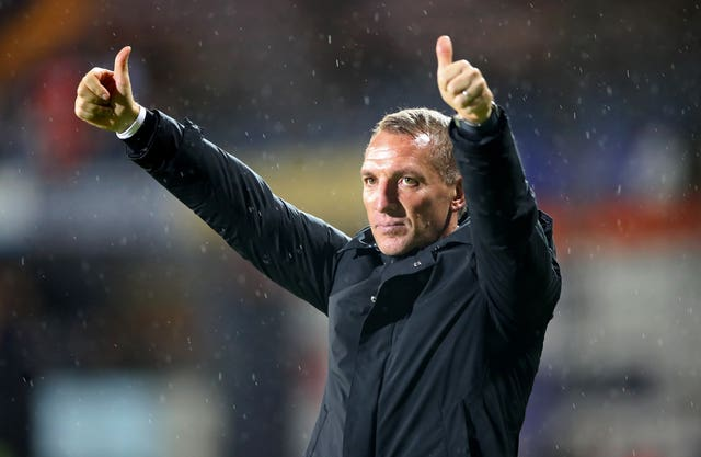 Brendan Rodgers' Leicester are fourth in the table (Nick Potts/PA).