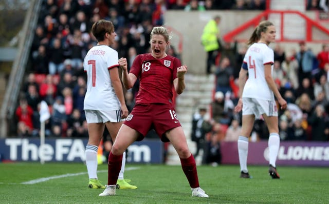 England's Ellen White was on target against Spain