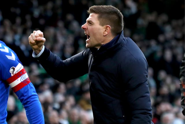 Rangers are two points behind Celtic at the top of the Ladbrokes Premiership but have a game in hand