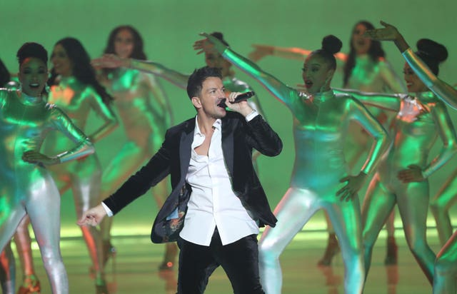 Peter Andre performs at Miss World