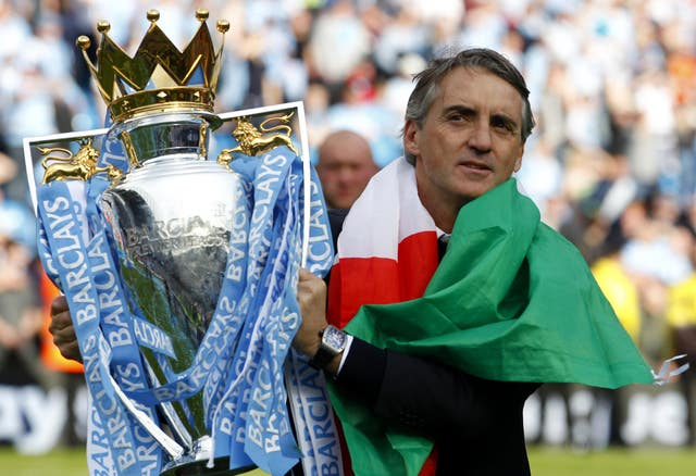 Mancini was a Premier League winner with Manchester City in 2012