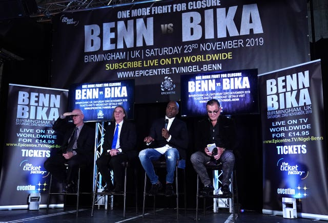 Nigel Benn has a point to prove