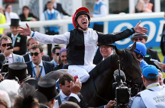 Frankie Dettori will be hoping to recreate these scenes at Epsom on Saturday week