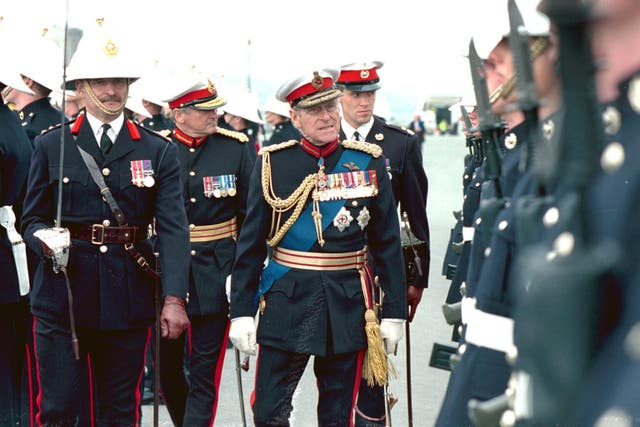 The Duke of Edinburgh as Captain General of the Royal Marines (PA)
