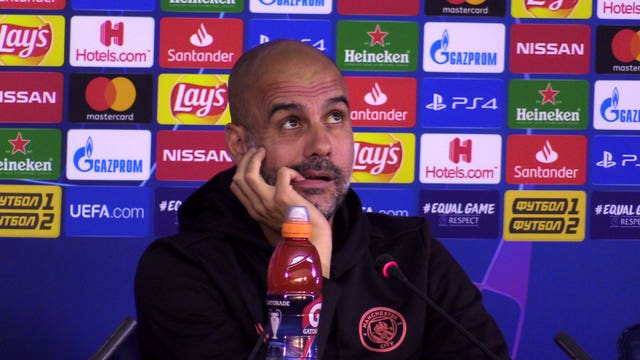 Pep Guardiola is turning his thoughts towards Watford in the Premier Leagu