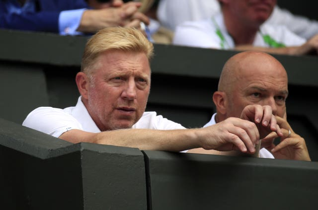 Boris recently coached Novak Djokovic (Jonathan Brady/PA)