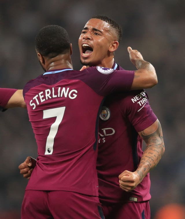 Raheem Sterling (left) and Gabriel Jesus (right) are part of a youthful City squad