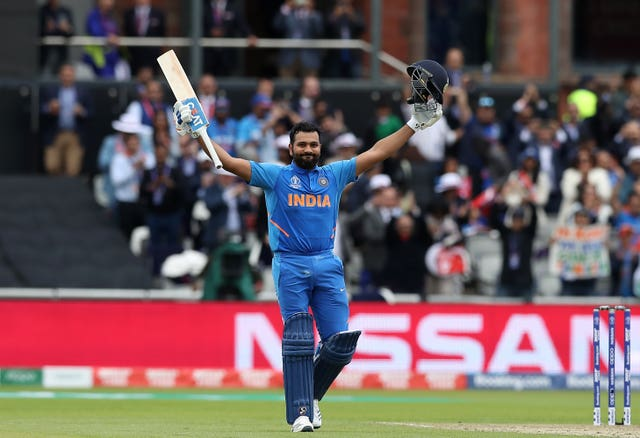 Sharma celebrates his century as India beat Pakistan at Old Trafford