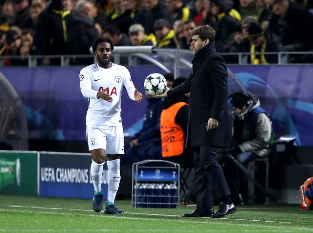 Danny Rose, left, and Mauricio Pochettino (John Walton/Empics)