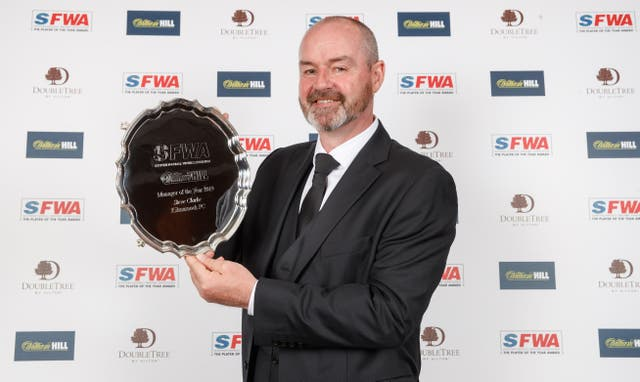 Steve Clarke collected another award on Sunday