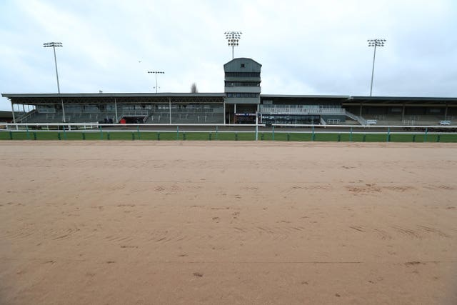 Empty stands at Southwell, where racing was due to take place on Friday