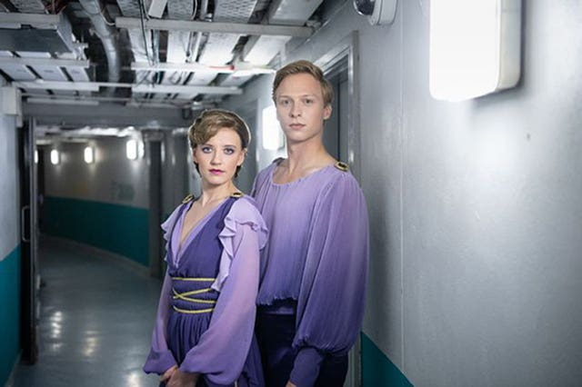 Will Tudor and Poppy Lee Friar in the TV drama, Torvill and Dean