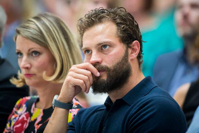 Jamie Dornan with his sister Jessica Dornan