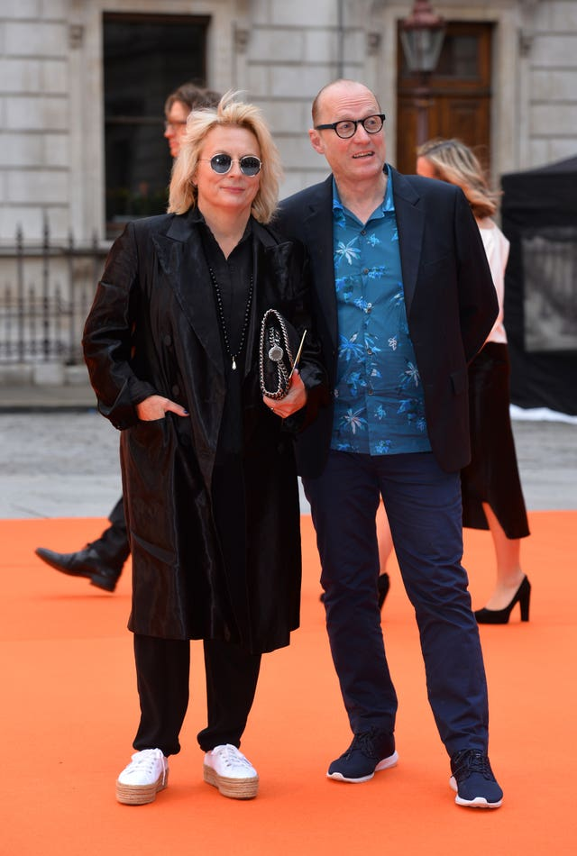Jennifer Saunders and husband Ade Edmondson