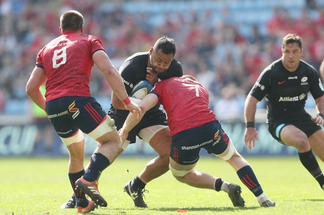 Billy Vunipola helped Saracens to victory over Munster