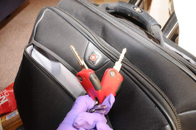 A set of including a key to a locked padlock for a chest freezer at Coombe Lane West (Met Police/PA)