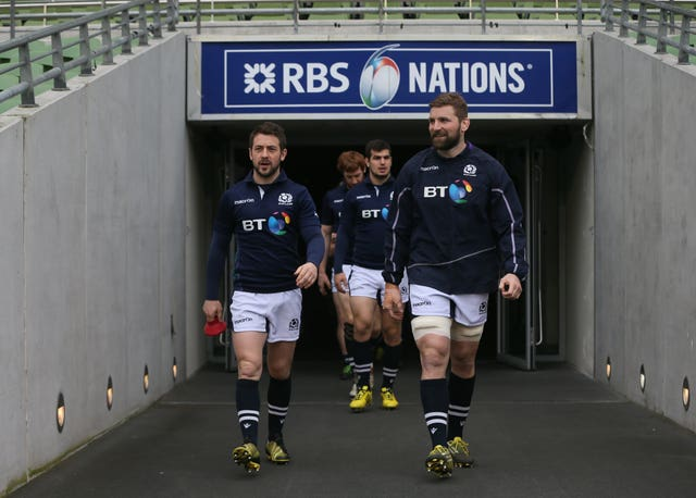 Greig Laidlaw (left) will have to be content with being named vice-captain after John Barclay took over as Scotland skipper