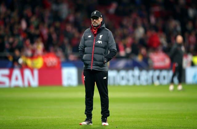 Jurgen Klopp watched his side fail to break down Atletico Madrid
