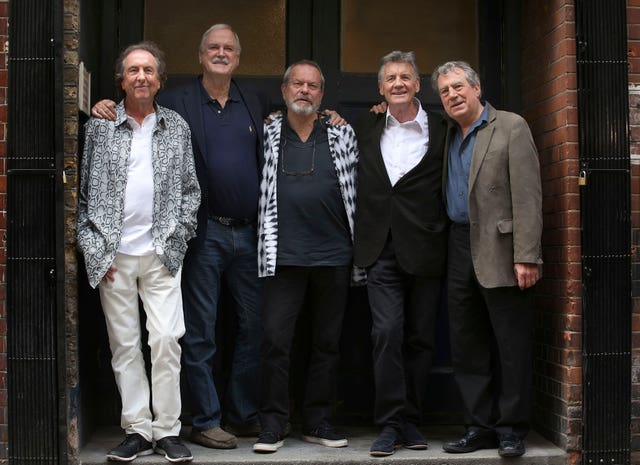 Eric Idle, John Cleese, Terry Gilliam, Sir Michael Palin and Terry Jones