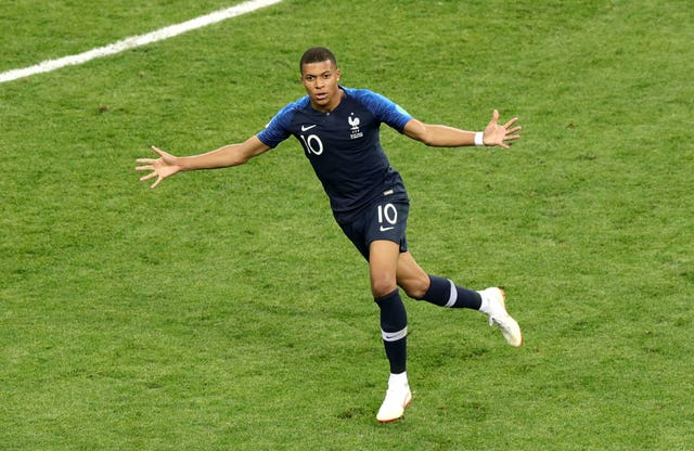Kylian Mbappe's performances helped France to World Cup glory in Russia (Aaron Chown/PA)