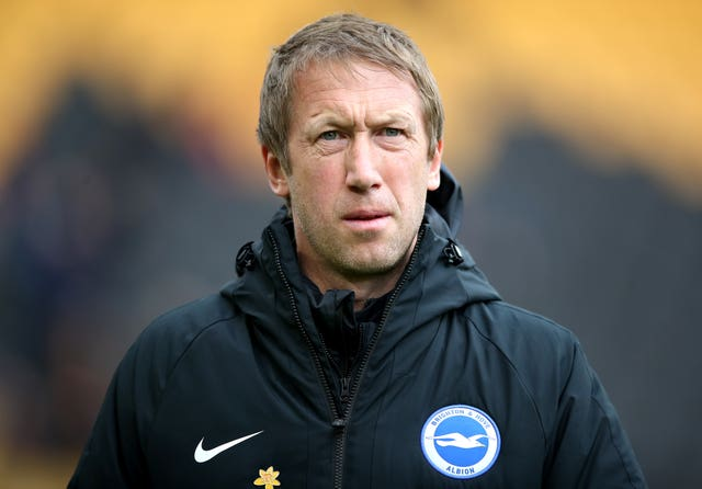 Brighton, managed by Graham Potter, sit 15th in the Premier League table